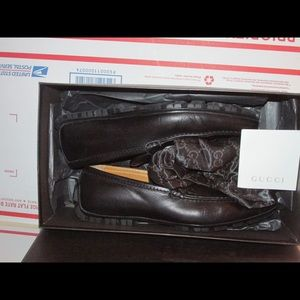 Authentic Gucci Leather Guccissima Loafers size 8